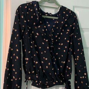 Lumiere wrap blouse
